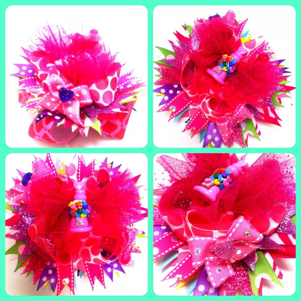 Fuschia Bubble Gum Couture Over the Top Boutique Hairbow